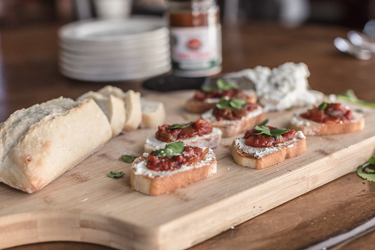Sweet and Savory Rustic Bruschetta